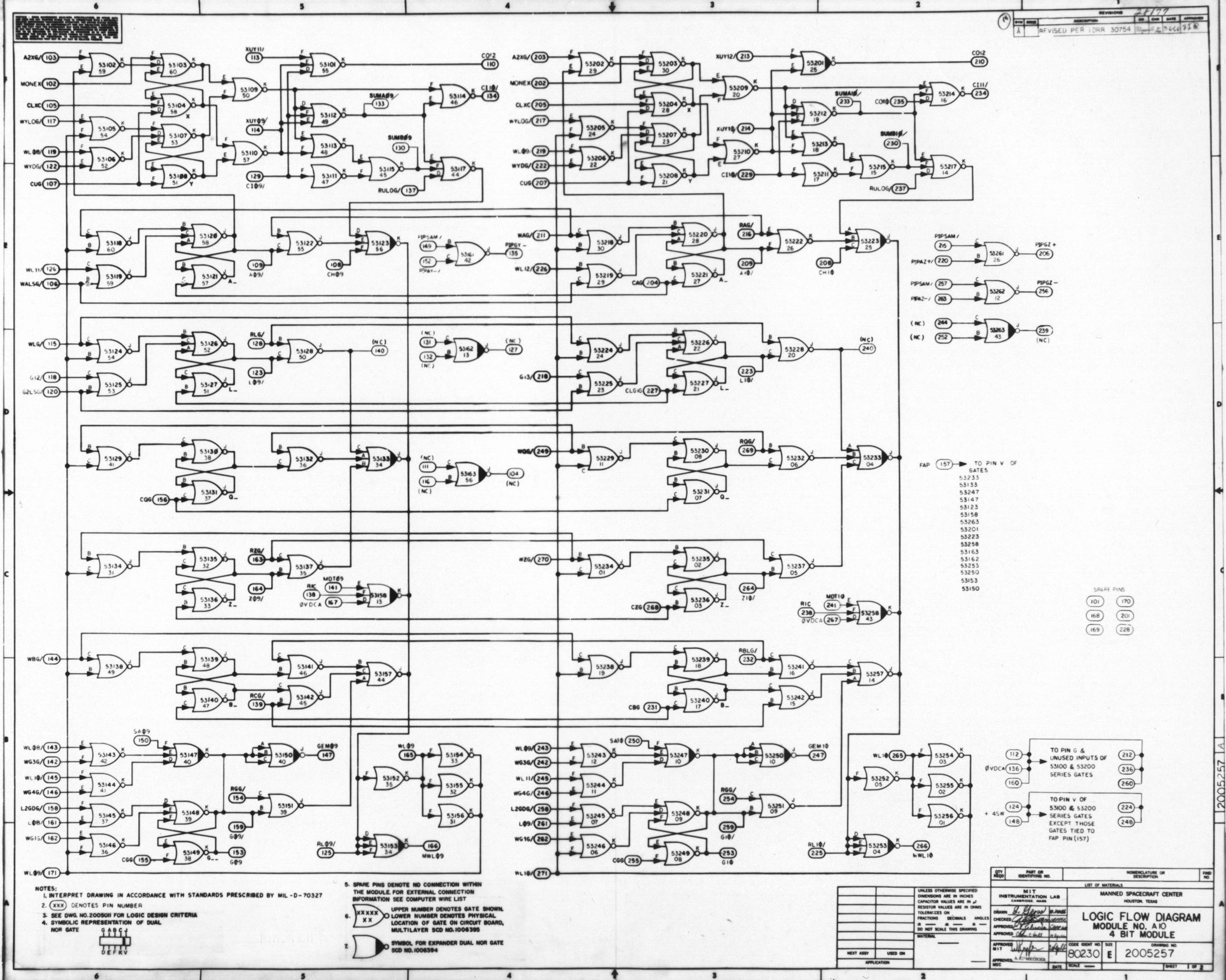 Apollo Guidance Computer Agc Schematics Is An Or And Circuit Equivalent Nor