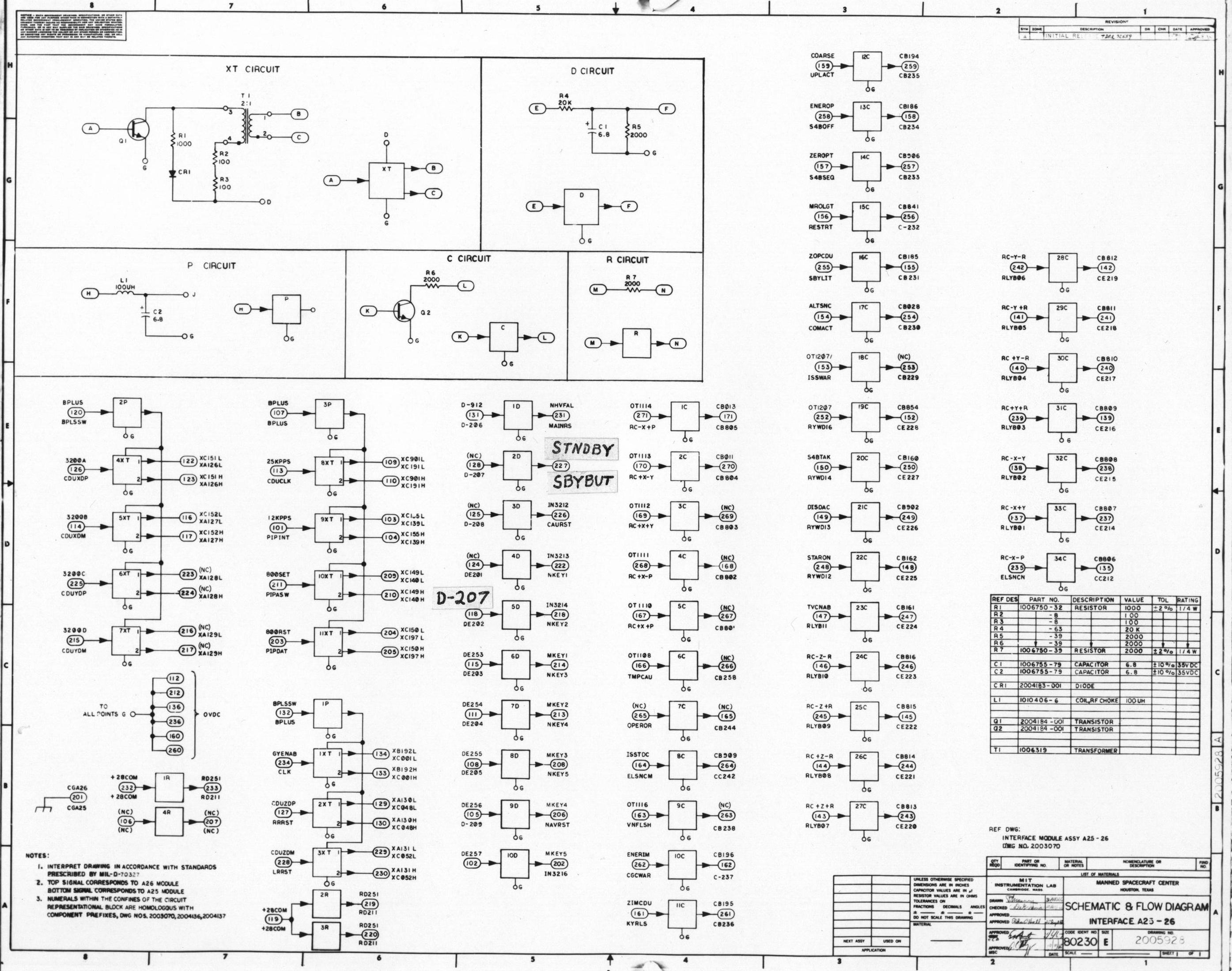 Apollo Guidance Computer Agc Schematics Circuit Diagram Nc Sheet 1 2 Schematic And Flow