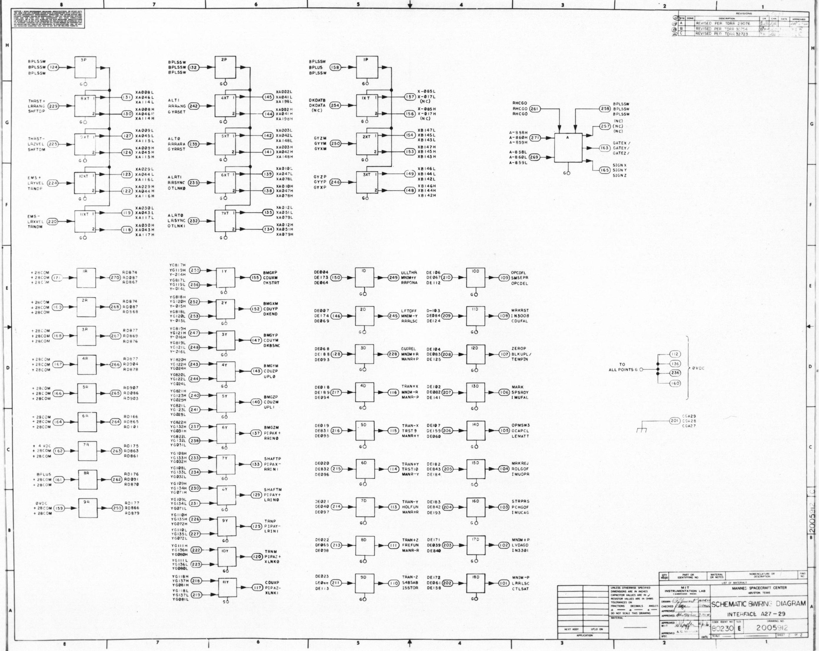 Apollo Guidance Computer Agc Schematics The Drawing No
